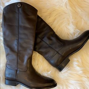 Frye Leather Tall Boots-Melissa Button 2 SZ. 8